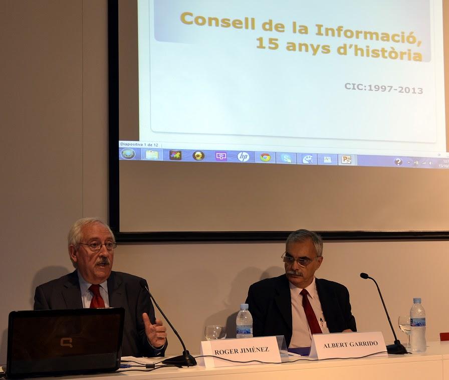 Roger Jiménez, president i  Albert Garrido, secretari general del CIC.